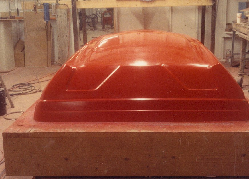 Finish Ready to Mold Clay Model  for a Fiberglass Van Roof, 1988